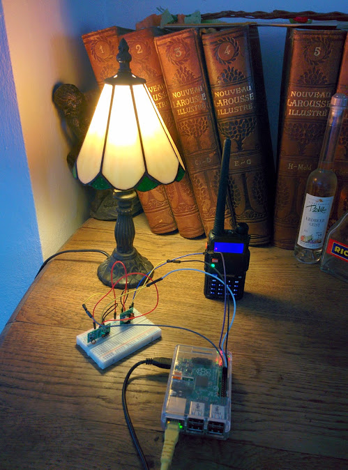 Controlling a vintage lamp over 4333 MHz